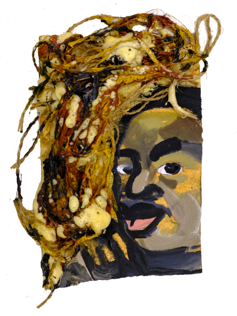 Jeffrey Spencer Hargrave, 'Martin Luther King Jr.', 2020, Painting, Acrylic, twine, foam on paper, Ethan Cohen Gallery