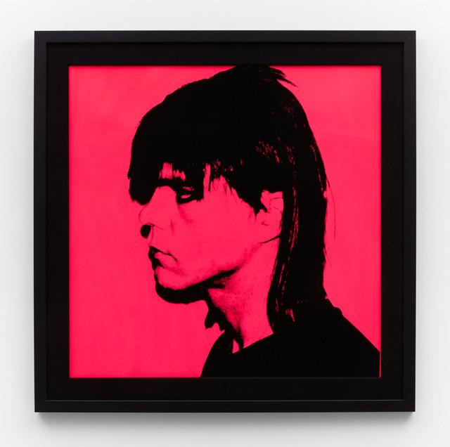 Andy Warhol, 'Steven Sprouse', 1984, Print, Black screenprint profile on hot pink background printed on Lenox Museum Board, IKON Ltd. Contemporary Art