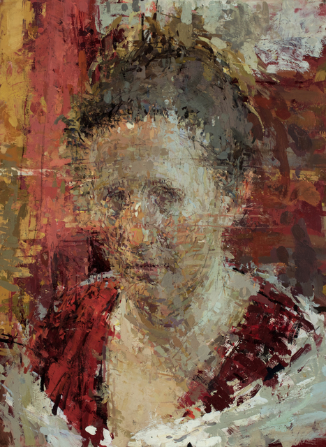 Ann Gale, 'Shannon in Red', 2015, Painting, Oil on copper, Dolby Chadwick Gallery