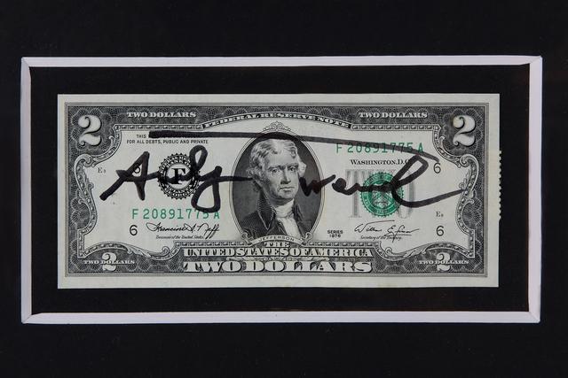 Andy Warhol, '2 Jefferson's Dollars', 1976, Bertolami Fine Arts