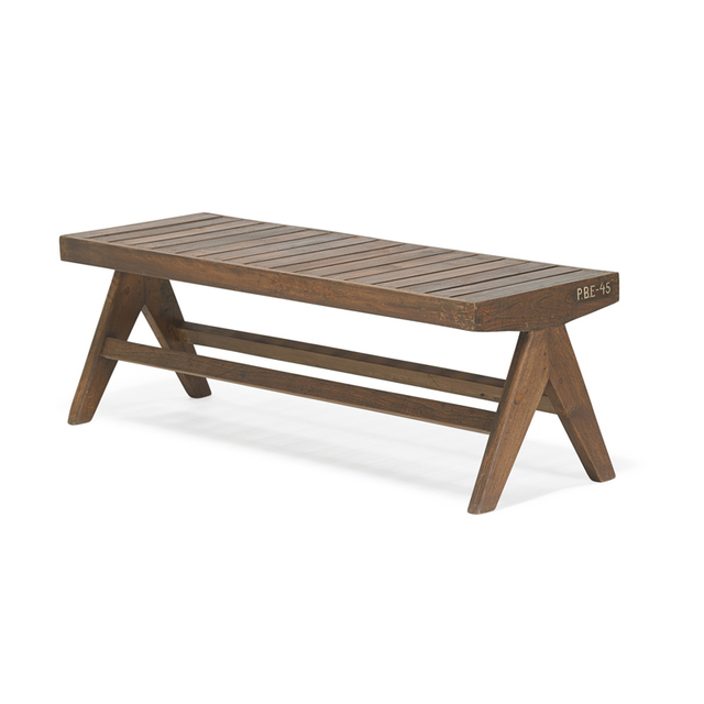 Pierre Jeanneret, 'Slatted bench from the Chandigarh administrative buildings, France/India', 1950s, Rago/Wright