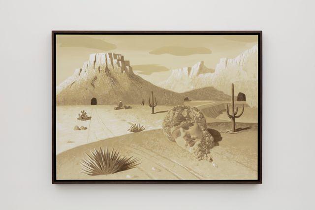 Daniel Arsham, 'Desert Animation', 2020, Painting, Acrylic on canvas panel, Perrotin