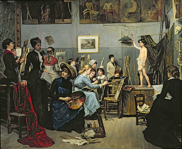 , 'In the Studio,' 1881, American Federation of Arts