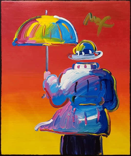 , 'Umbrella Man on Red ,' 2012, Off The Wall Gallery