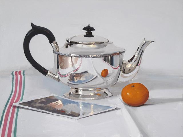 , 'Silver Teapot with Postcard and Mandarin,' , Panter & Hall