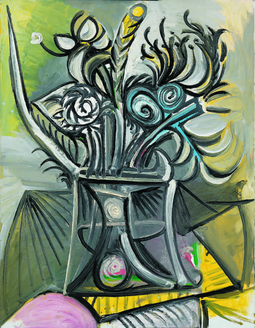 pablo picasso vase de fleurs sur une table vase with flowers on a table 1969 artsy. Black Bedroom Furniture Sets. Home Design Ideas