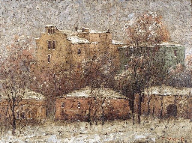 Aleksey Saxonov, 'First snow', 1991, Surikov Foundation