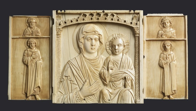'Triptych Icon of the Virgin and Child with Saints', 10th century, Walters Art Museum
