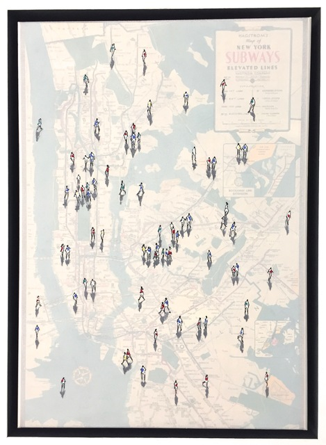 , 'Shadows on Vintage NYC subway map,' , Rademakers Gallery