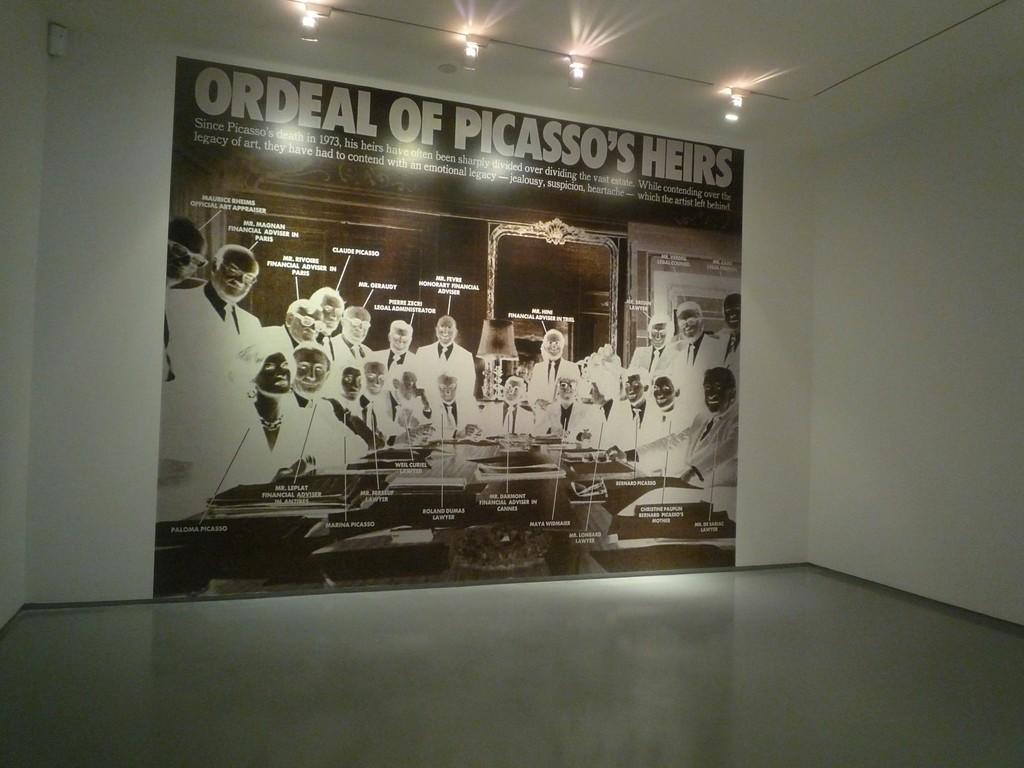 Muntadas.  Ordeal of Picasso's Heirs, 2012