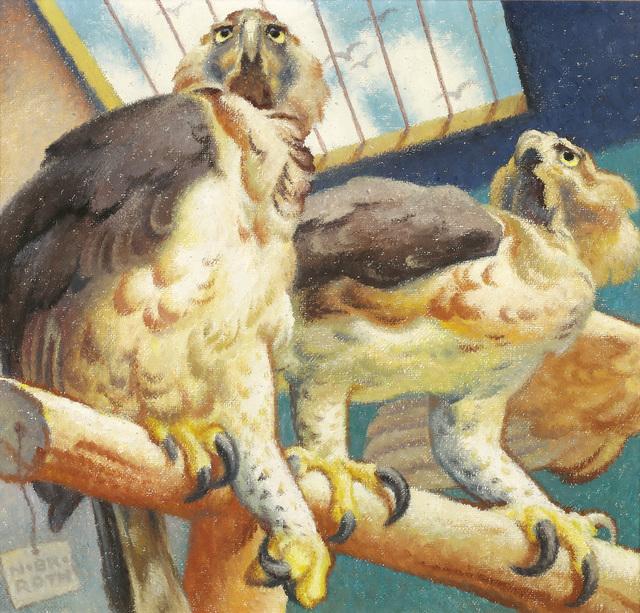 , 'Couple of raptors,' 1954, Galerie Kovacek