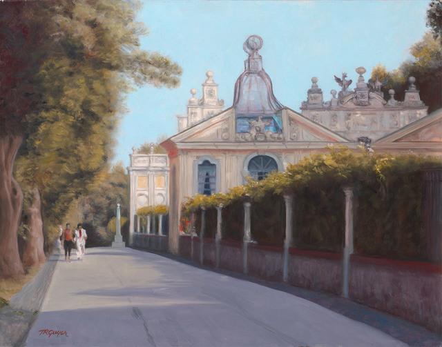 "Terry Guyer, '""Borghese Gardens Aviary""', 2016, Gallery 104"