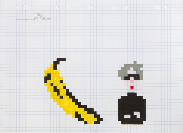 Invader, 'Warhol and Banana', 2013, Julien's Auctions