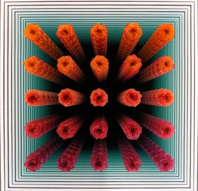, '5x5 Orlane Gradient (Orange to Magenta) 1/5,' 2018, Hashimoto Contemporary
