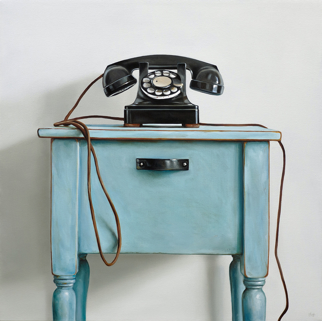 , 'Western Electric Rotary Telephone & Blue Table,' 2018, George Billis Gallery