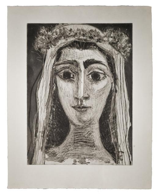 Pablo Picasso, 'Jacqueline en Mariée, de face I (7th state of 18)', John Szoke