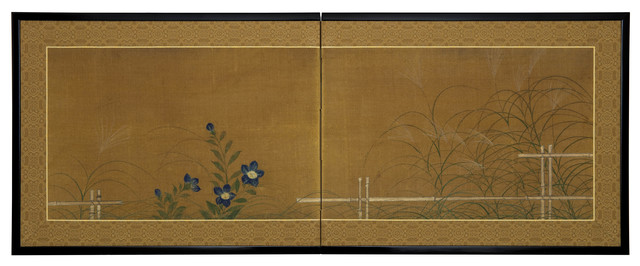 , 'Fall Grasses and Flowers by Bamboo Fence (T-4013),' 19th Century, Erik Thomsen