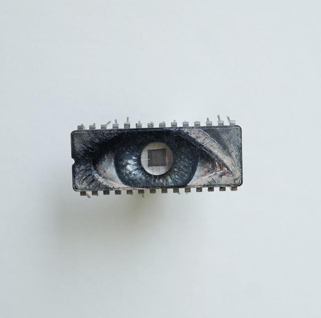 Yuri Zupancic, 'Eye in Eye', 2015, Painting, Oil Painting on Microchip, Gonzo Gallery