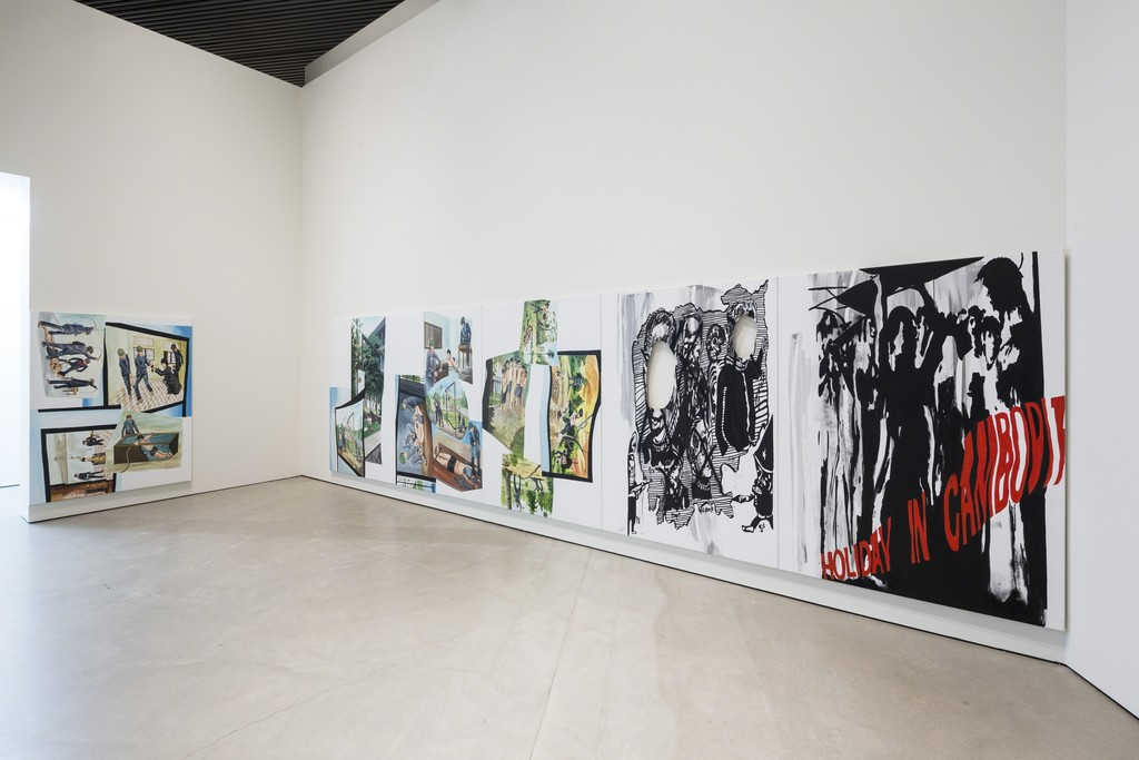 "Installation view of ""Claus Carstensen: WHAT'S LEFT (IS REPUBLICAN PAINT) – NINE SISTERS"" at ARoS Aarhus Kunstmuseum, Aarhus (2015)"