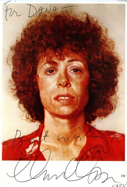 Chuck Close, 'Rare Signed, dedicated and inscribed vintage card ', 1988, Alpha 137 Gallery