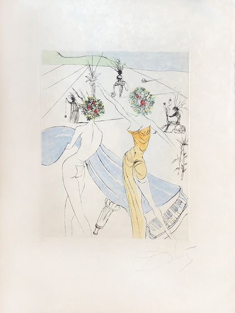 Salvador Dalí, 'Flower Woman with Soft Piano', 1973, Print, Original etching, Galerie d'Orsay