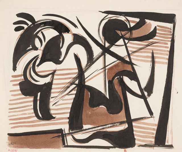 Werner Drewes, 'Study of Ancient Warrior #108 A165A', 1945, Aaron Payne Fine Art