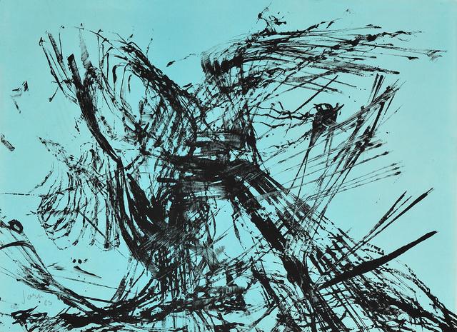 Asger Jorn, 'Composition on blue backgroud', 1963, Millon Belgium
