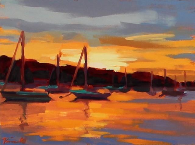 , 'Harbor Eve ,' , LaMantia Fine Art Inc.
