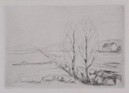 Edvard Munch, 'Norwegian Landscape ', 1908, Stubbs Fine Art