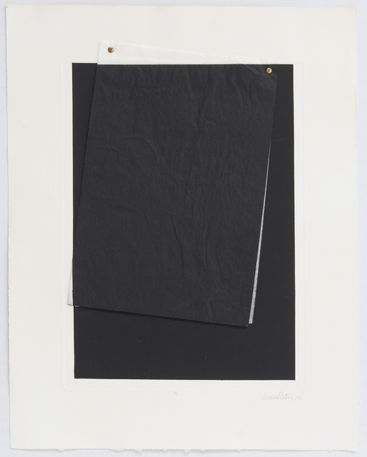 , 'Black VIII (wrinkle),' 1971, Hosfelt Gallery