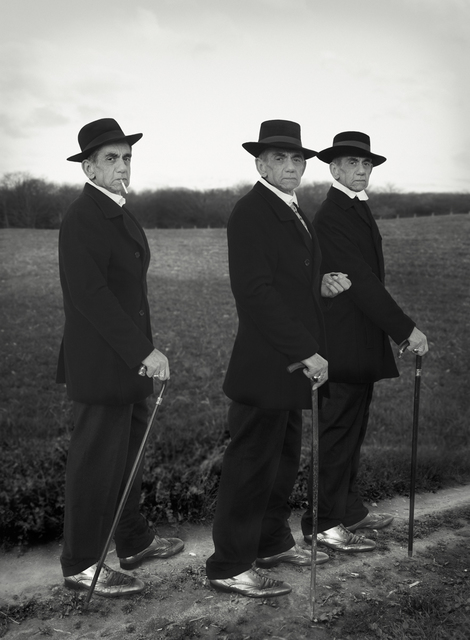 , 'Looking for the Masters in Ricardo's Golden Shoes #09 (Tribute to August SANDER, Young Farmers, 1914),' 2016, Galerie Thierry Bigaignon