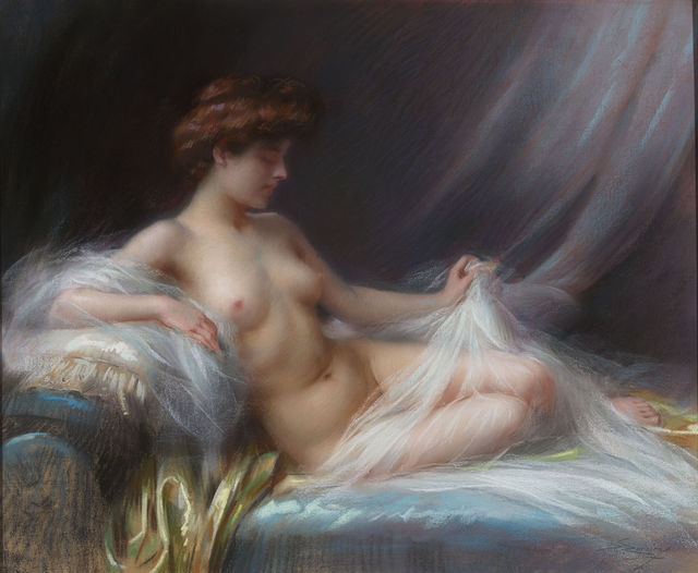 , 'Reclining Female Nude,' ca. 20, M.S. Rau Antiques