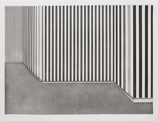 Paul Noble, 'Room with Wallpaper 4', 2019, Print, From a set of four hard ground etchings with aquatint, roulette wheel, drypoint and burnisher on Hahnemühle Etching 300gsm, Cristea Roberts Gallery