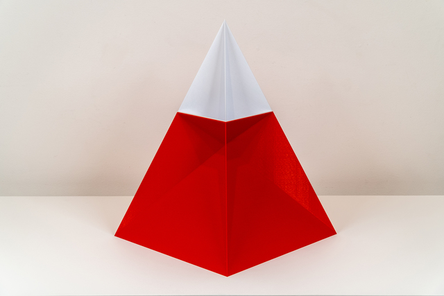 , 'Nested Pyramid (Red and White),' 2019, Upfor