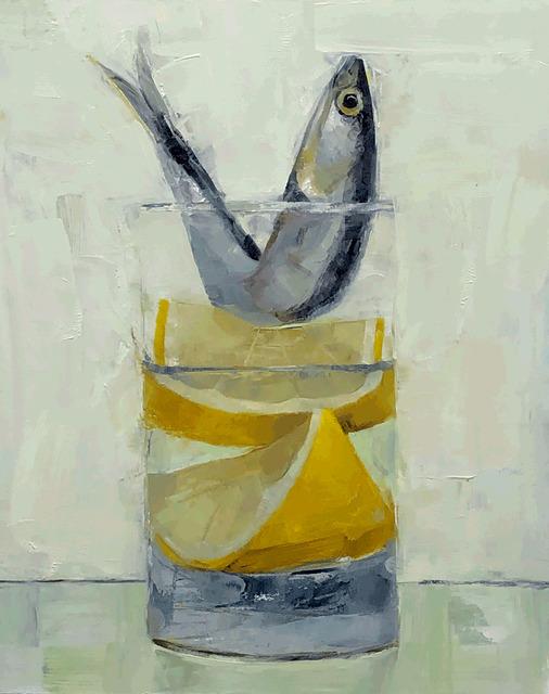 Tom Giesler, 'Floral 41: anchovy lemon wedge', 2020, Painting, Oil on panel, McVarish Gallery