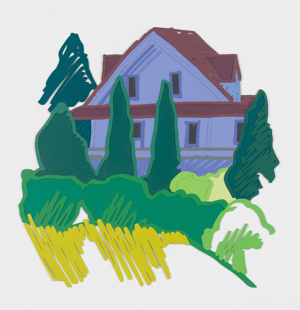 Tom Wesselmann, 'Tennanah Lake House', 1992, Sculpture, Alkyd on cut-out steel relief, Cristea Roberts Gallery