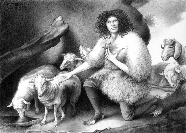 James Mundie, 'The Wild Man Tending His Flock', Stanek Gallery