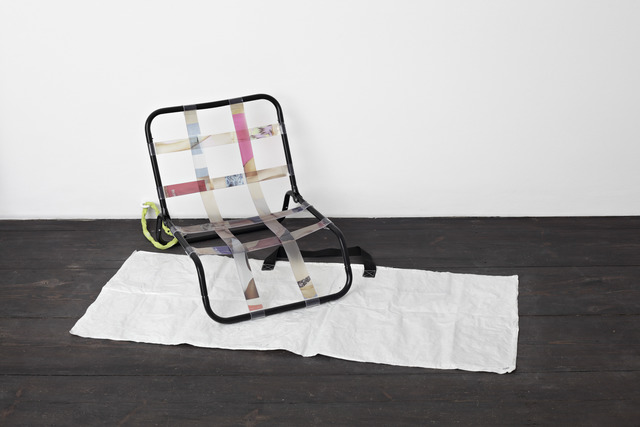 , ''Hosted As Seen On Screen / Relags Travel Chair',' 2012, Sandy Brown