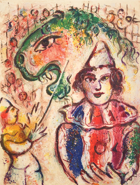 Marc Chagall, 'Le Cirque M. 504', 1967, Print, Original Lithograph on Velin d'Arches Wove Paper, Galerie d'Orsay