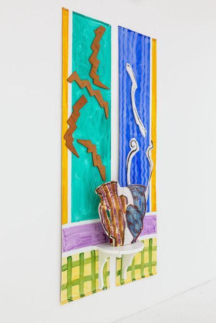 Betty Woodman, 'Double Vase, Double Window', 2010, Nina Johnson