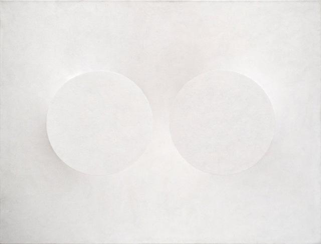 , 'Due cerchi in bianco,' 1989, Dan Galeria
