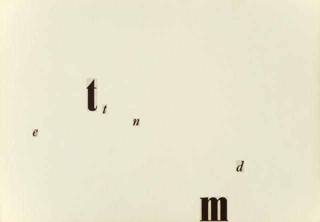 , 'Untitled (e tt n m d),' 1956, Christine König Galerie