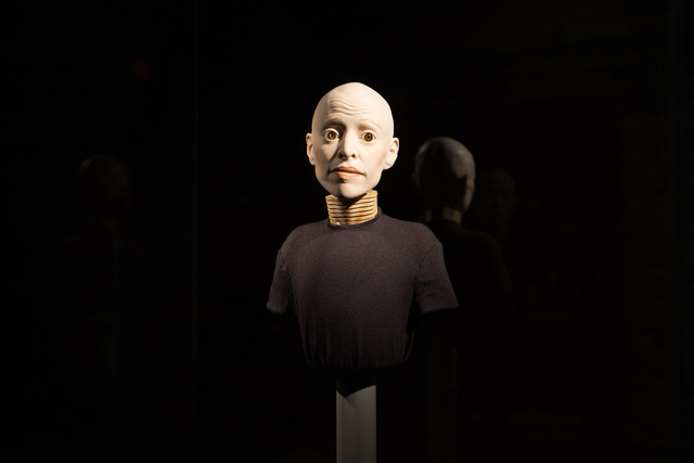 Elizabeth King, 'Untitled', 2004, Sculpture, Porcelain, glass eyes, wood, metal, eye lashes, fiber optics, MASS MoCA