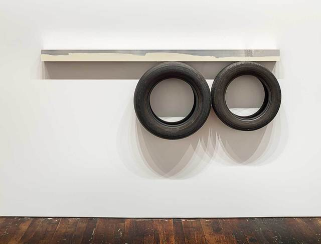 , 'One Line (horizontal), Two Circles Underneath,' 2014, Peter Freeman, Inc.