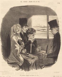 Honoré Daumier, 'Un Premier voyage en chemin de fer', 1846, National Gallery of Art, Washington, D.C.