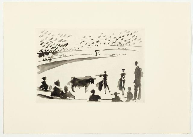 Pablo Picasso, 'Después de la estocada, el torero senala la muerte del toro', 1957, Koller Auctions