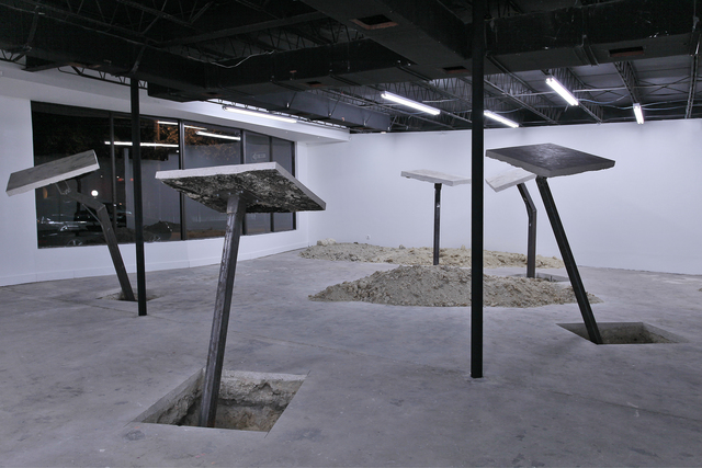 , 'Cores & Cutouts,' 2012, Locust Projects