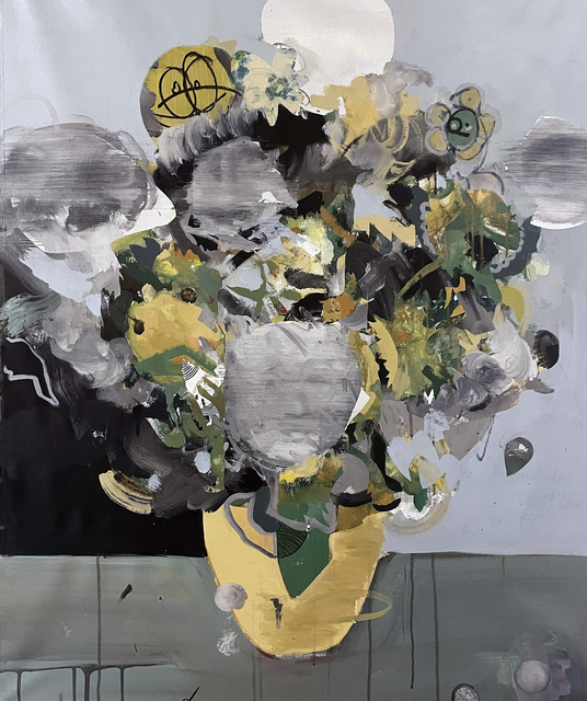 Elías Peña Salvador, 'Sunflowers', 2020, Painting, Acrylic and Oil on Canvas, Contemporary by Angela Li
