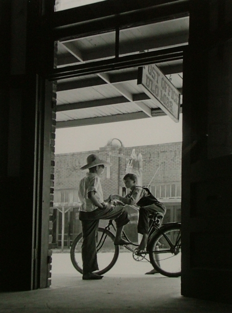 Andreas Feininger, 'Barefoot Boys Gather Around the Post Office, D'Lo, Mississippi', 1942, Contessa Gallery
