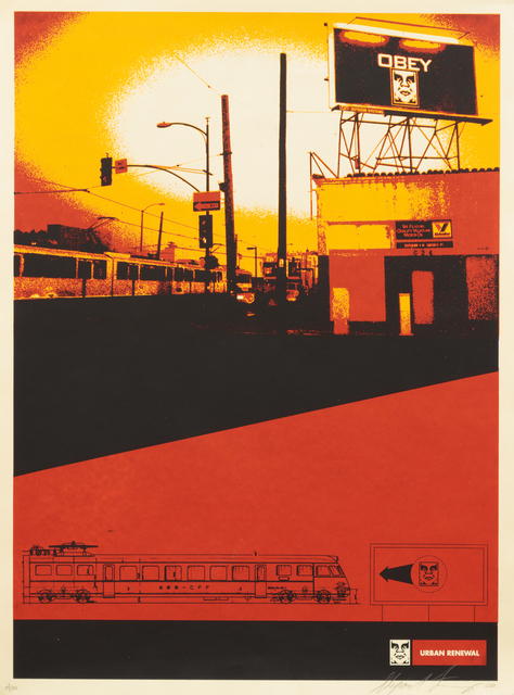 Shepard Fairey (OBEY), 'San Diego Billboard (from Urban Renewal)', 2000, Heather James Fine Art Gallery Auction